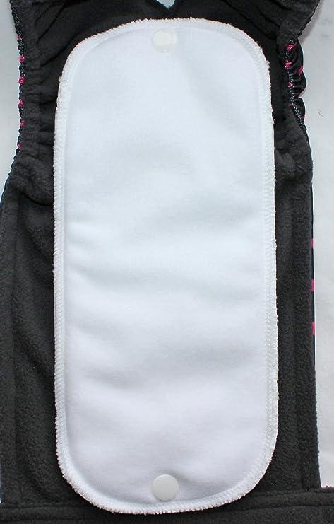 todas las tallas con compresas lavables opcionales color negro con lunares rosas Pa/ñal abrigado para perra