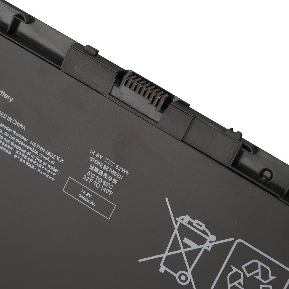 7XINbox 52Wh 14.8V 6 Cell Replacement Notebook Battery BT04XL for HP EliteBook Folio 9470 9470M Series Laptop HSTNN-IB3Z HSTNN-I10C BT04 BA06 687517-1C1