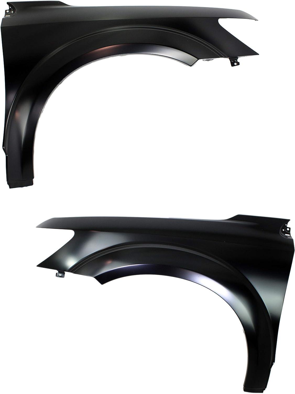 Front Fender Compatible with 2009-2018 Dodge Journey Primed Steel Set of 2 Driver and Passenger Side