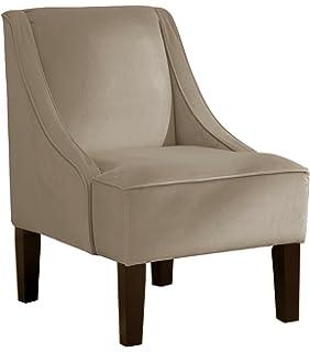 Skyline Furniture Swoop Arm Chair In Velvet Cocoa