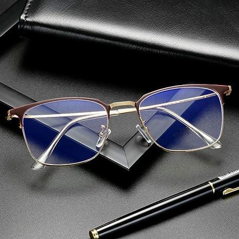 Yangjing-hl Gafas Montura de Gafas Anti-BLU-Ray polígono Espejo ...