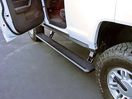 Electric Running Boards >> Amp Research 75116 01a Powerstep Electric Running Boards For 2005 2010 Hummer H3 2009 2010 Hummer H3t