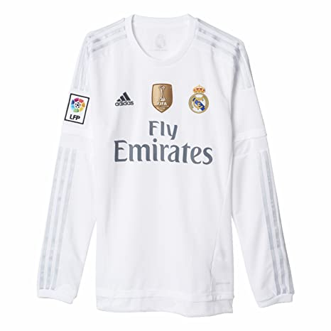 a03a739ded8 Real Madrid Home L/S Jersey 2015 / 2016 + Club World Cup Champions Patch