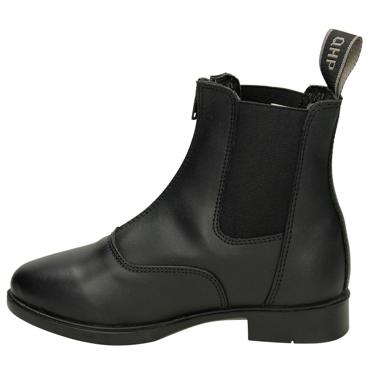 33 EU QHP Winter Ankle Boots Jodhpur Manilla Junior Black Leather