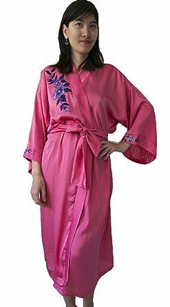 df016ea887d3a Night Gown in Silk, Kimono, Sleeping Robe, Maternity Dress at Amazon ...