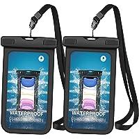 Snowpea Wodoodporne etui na telefon [2 paczki], wodoodporne etui na telefon IPX8 sucha torba z przenośną smyczą do…