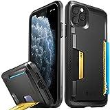 Vena iPhone 11 Pro Max Card Case, vSkin Slim Wallet Case with Credit Card Holder Slot Kickstand, Designed for iPhone 11 Pro Max - Black
