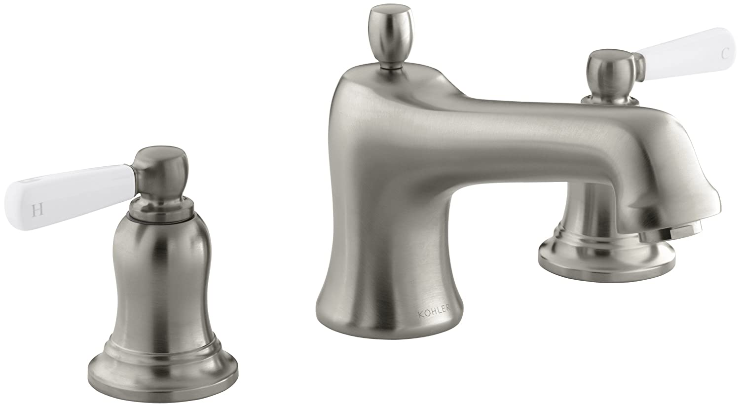 KOHLER K-T10592-4P-CP Bancroft Deck-Mount Bath Faucet Trim, Polished ...