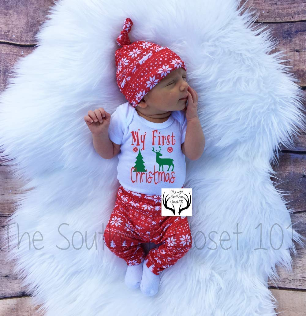 885f62e28 Amazon.com: Baby Girl Christmas Outfit,Baby Christmas Outfit, Girl Coming  home outfit,Girls Christmas,First Christmas Outfit,Newborn Christmas Outfit:  ...