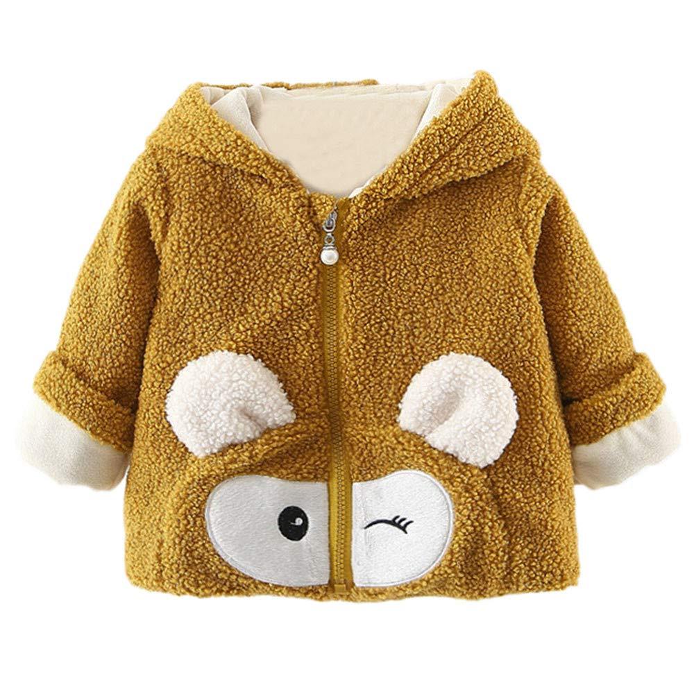 HEETEY Baby Kinder M/ädchen Junge Mode l/ässig Mantel Cartoon Langarm-KapuzenpulloverWinter warme Kleidung Mantel