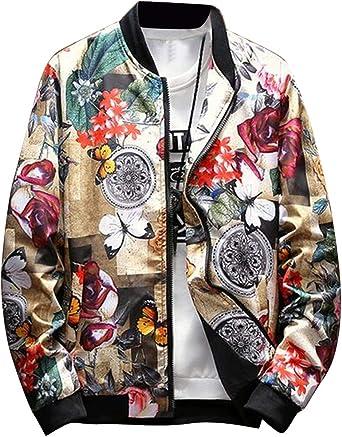 Fubotevic Men Hooded Regular Fit Casual Letter Printing Sweatshirt Cardigan Coat