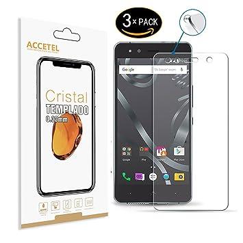 BQ Aquaris X5 Plus Protector cristal templado: Amazon.es: Electrónica