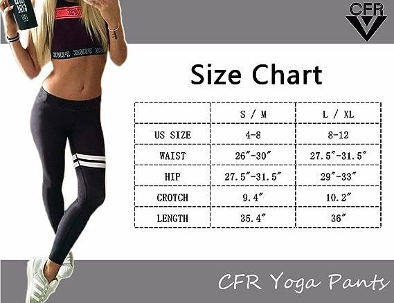 Amazon.com: CFR Leggings Yoga pantalones Fashion Color ...
