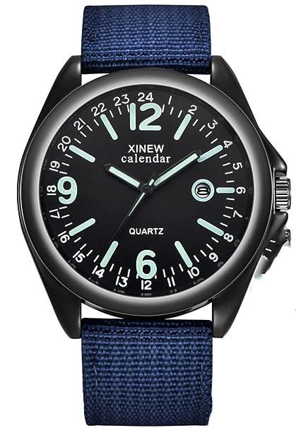 Räumung Uhr FGHYH Männer Armbanduhr Military Mens Quartz Army Watch Black Dial Date Luxury Sport Wrist Watch Armbanduhr Uhr(Grün)
