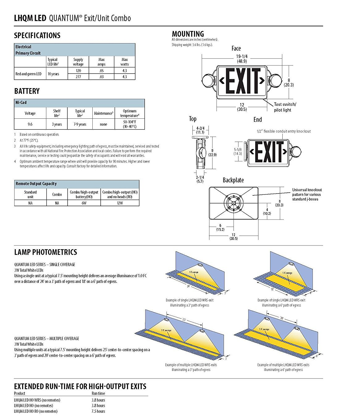 diagram lithonia lighting further exit sign emergency