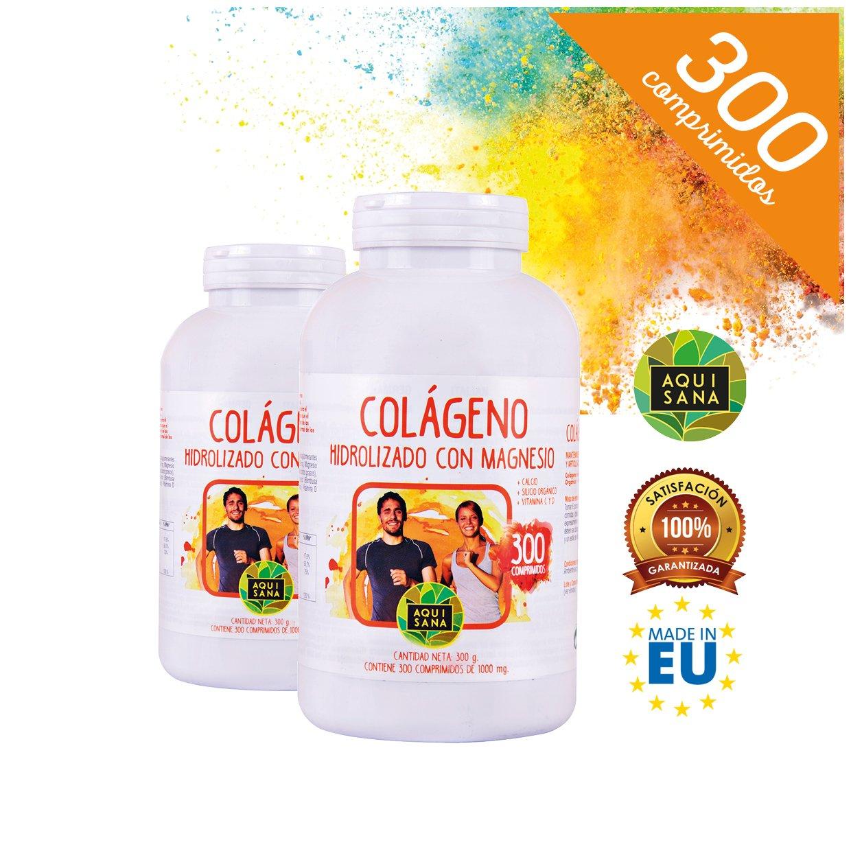 Colágeno Hidrolizado ✓ Magnesio ✓ Calcio ✓ Vitamina C y D ✓ Fortalece tus Huesos: Amazon.es: Salud y cuidado personal