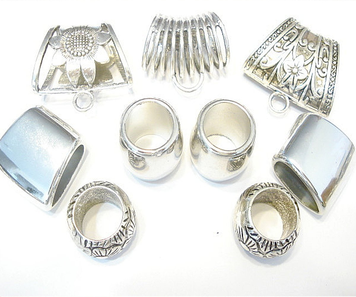 New Scarf Jewelry Metal Scarf Bail Rings Accessory 9pcs Receive In 4 Days Fashion Jewelry