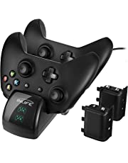Xbox One Controller Dual Charger, INLIFE Controller Charging Stand Elite Controller Charging Station High Speed Docking for Xbox One /One S /One X with 2 x 1200 mAh Rechargeable Battery Packs
