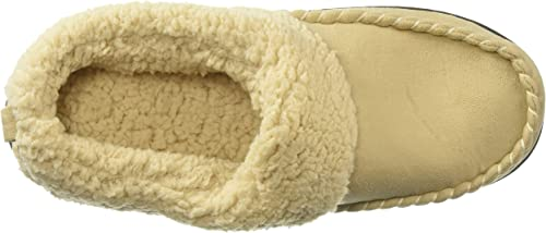 Dearfoams Womens Elaine Microsuede Clog with Whipstitch Slipper