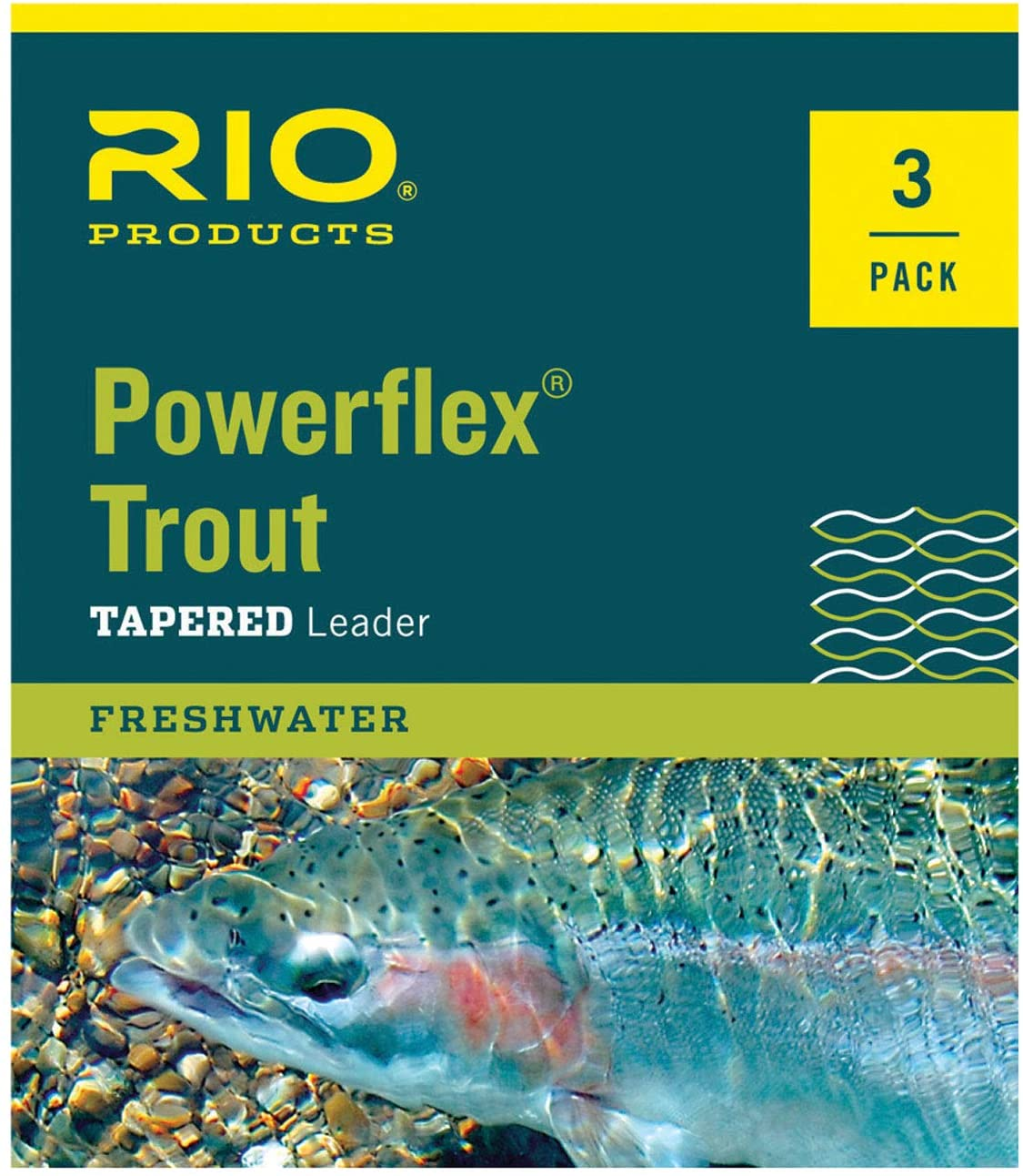 RIO Products Leaders Powerflex Knotless 12 3X Leaders 3 Pack, Clear