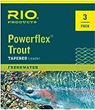 Rio Powerflex Trout Leaders, 9 Foot, 3 Pack