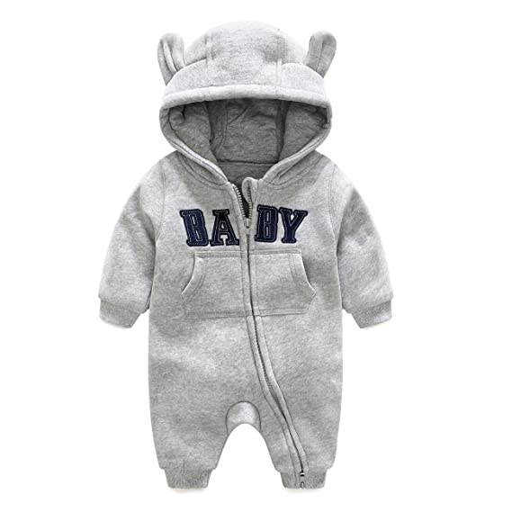 41ada828c1e4 Fairy Baby Baby Bear Outfits Hooded Jumpsuit Long Sleeve Spring Zipper Romper  for Boys Girls