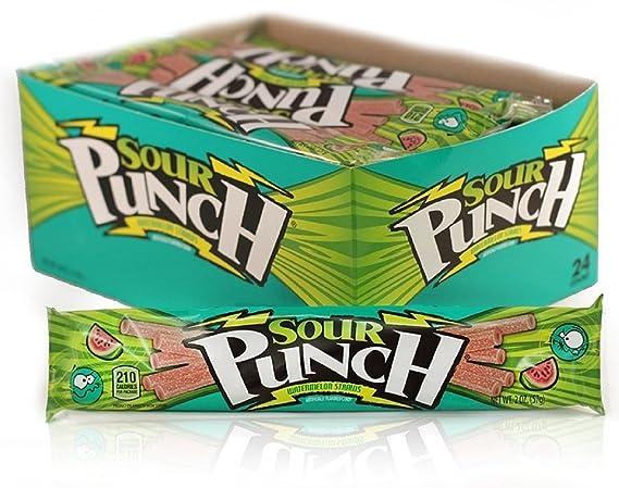 Pajitas de caramelo agrias de sandía: Amazon.com: Grocery ...