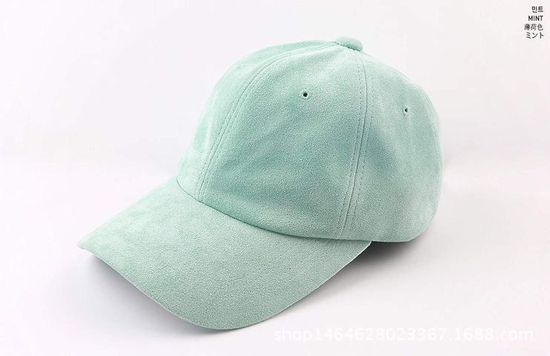 Adjustable Solid Macaroon Color Strapback Suede Baseball Cap Female Summer hat chapeu