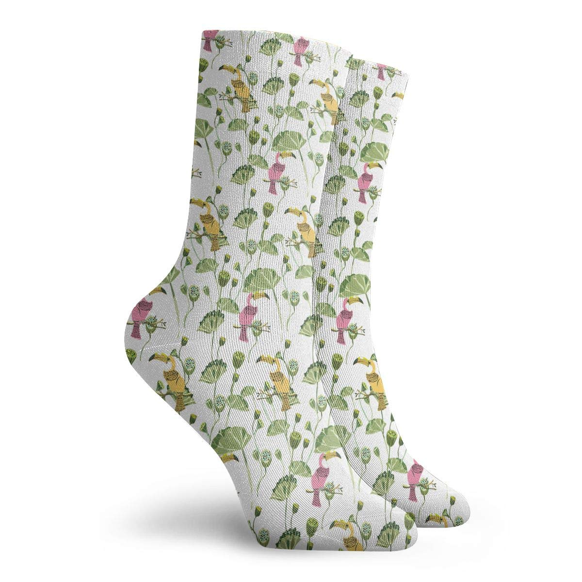 The Bird Of The Tongue And The Lotus Fashion Dress Socks Short Socks Leisure Travel 11.8 Inch