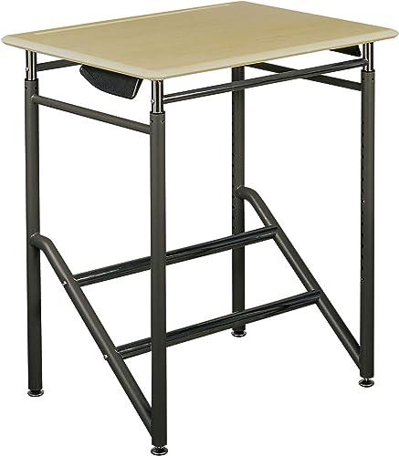 Vari Education – Adjustable Standing School Desk 5-12 – Adjustable-Height Classroom Student Student Desk