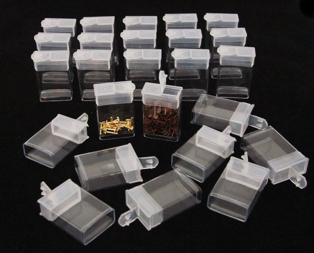 Rectangle Clear Plastic Storage Tubes With Flip Tops 1.5'' Pack of 100 by Beadsmith
