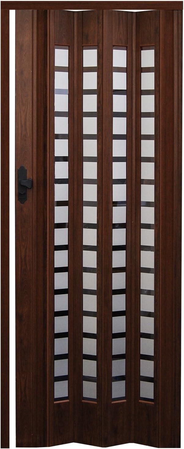 EYEPOWER Puerta Plegable Sylt Roble Oscuro 86 x Puerta corrediza Puerta Plegable Plegable nichos Pared Puerta 203 cm: Amazon.es: Hogar