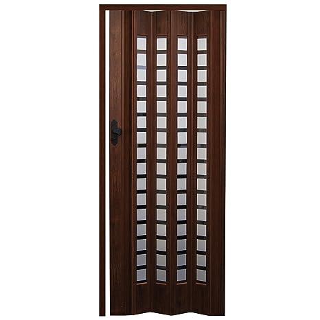 Porta a soffietto in legno di quercia\