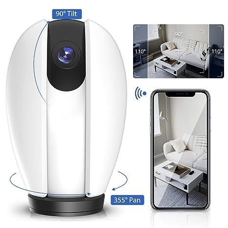 Cámara IP inalámbrica para Interiores, cámara IP WiFi 1080P Exterior ROXTAK Monitor de Cabeza con