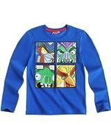 Angry birds Transformers Boys Long Sleeve T-Shirt - blue