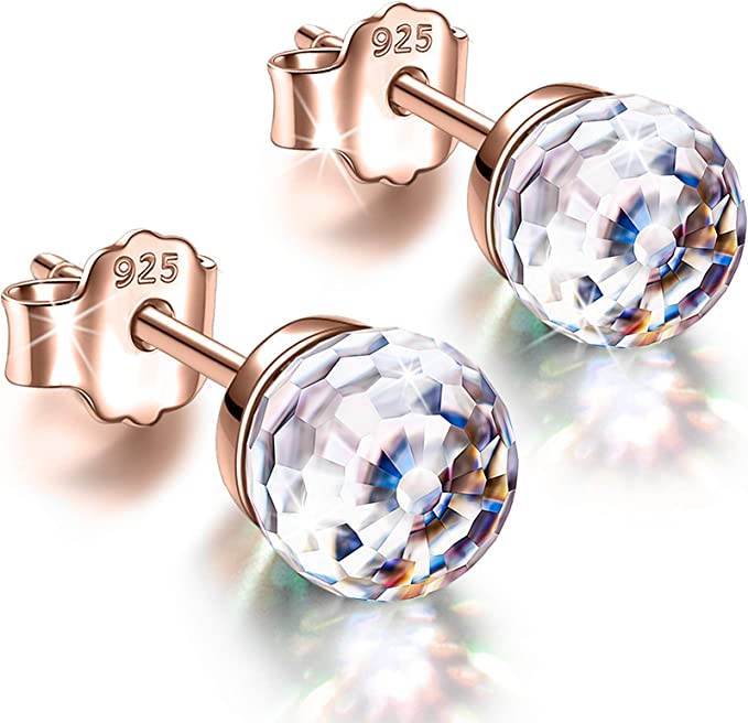 Alex Perry Earrings 925 Sterling Silver, 6mm Crystals from Austria £9.99 @ Amazon