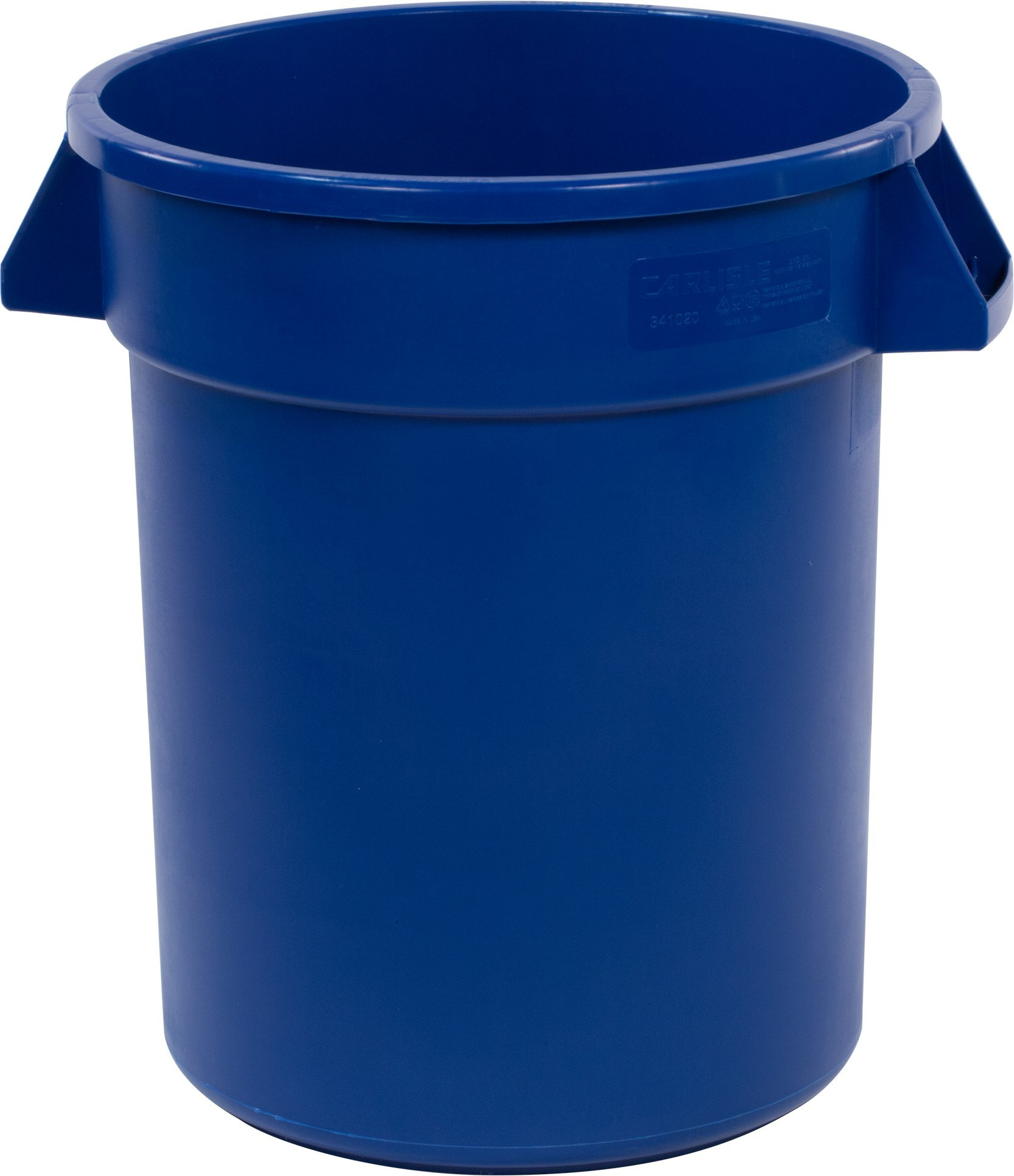 Carlisle 34102014 Bronco Round Waste Container Only, 20 Gallon, Blue (Pack of 6)