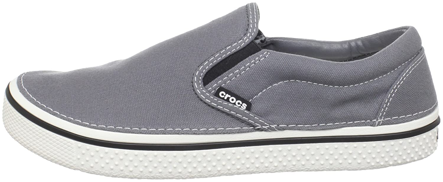 crocs Hover Slip On - Zapatillas de lona hombre, color gris, talla 47/48: Amazon.es: Zapatos y complementos