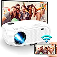 """Wireless WiFi Projector 3800L,WEILIANTE Upgraded Mini Video Projector, Support 50,000Hrs, 200"""" Display, Full HD 1080P, Compatible with Android, iOS, Video Games, TV Stick, Laptops"""
