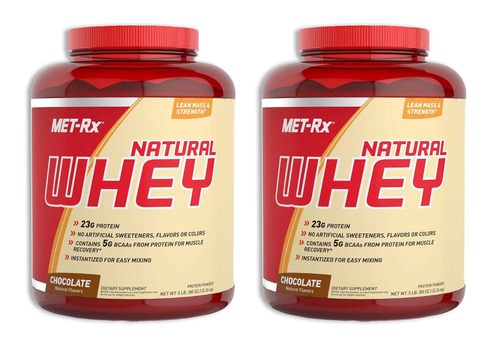 MET-Rx Natural Whey Chocolate 5 LB (2 Pack) by MET-Rx (Image #1)