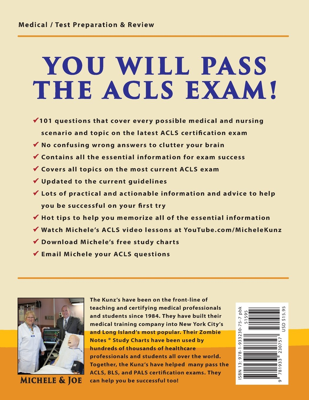 Acls certification exam q a with explanations for healthcare acls certification exam q a with explanations for healthcare professionals and students michele g kunz joseph c kunz jr dr peter woods fandeluxe Image collections