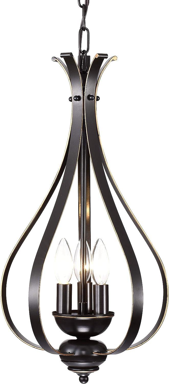 Chandeliers Vintage Chandelier Lighting Bronze Hanging Light Fixture Industrial Pendant Light 3 Lights