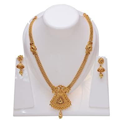61fea4816a2ea0 Buy Gurumehar Women's Long Chain with Elegant Design Necklace with Earings  Online at Low Prices in India | Amazon Jewellery Store - Amazon.in