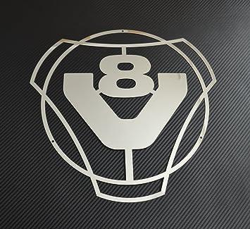 Panel frontal de acero inoxidable V8 para Scania R/P/L/G/T/S ...