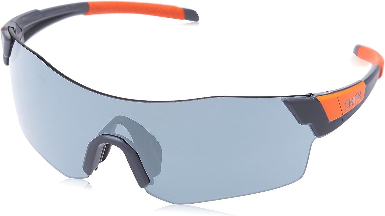 Smith Pivlock Arena//N Xb Pivlock Arena//N Xb M9L 99 Rectangular Sunglasses 99 Grey Orange//Sil Grey Speckled Cp