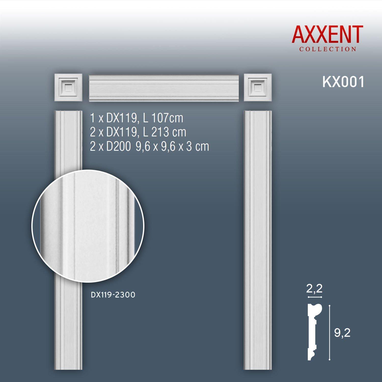 Orac Decor LUXXUS KX001 T/ürumrahmungs-Set Zierelemente