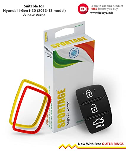 1 Key Replacement Keypad For Hyundai I20 Color May Vary Amazon In