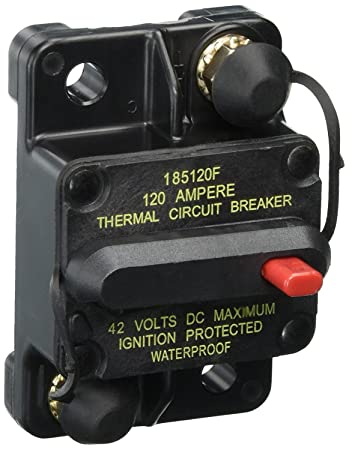 Bussmann CB185-120 120 Type Iii Flush Mount Switchable/Manual High Amp  Circuit Breaker, 30Vdc, One Per Box (1-Pack)