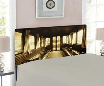 Amazon.com: Ambesonne - Cabecero antiguo vintage para tren o ...