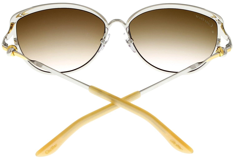 Amazon.com: Cartier Trinity de Cartier Sunglasses Cat Eye ...